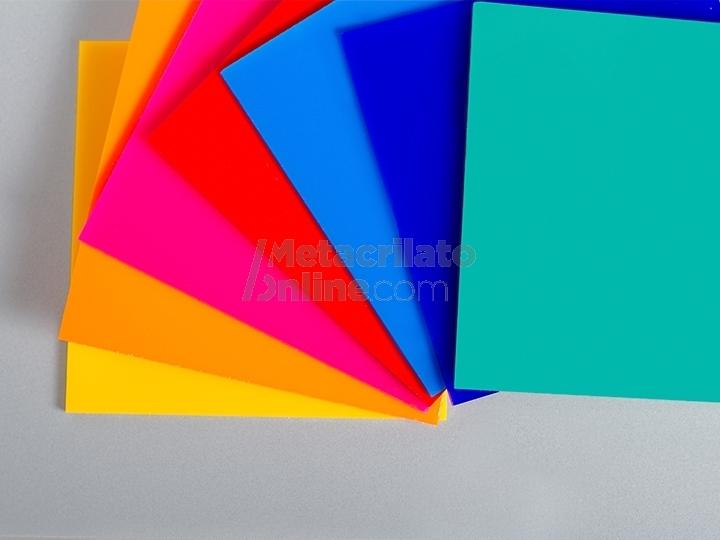 Plancha de metacrilato opaco de colores